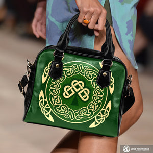 Ireland Shoulder Handbag Shamrock and Celtic Corner
