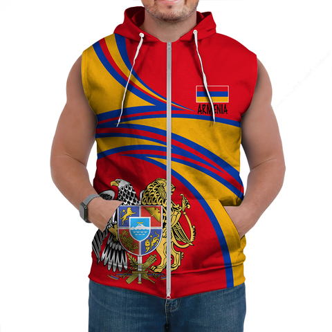 Image of Armenia Sleeveless Hoodie A15