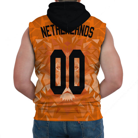 (Custom) Netherlands Lion Sleeveless Hoodie Euro Soccer A27