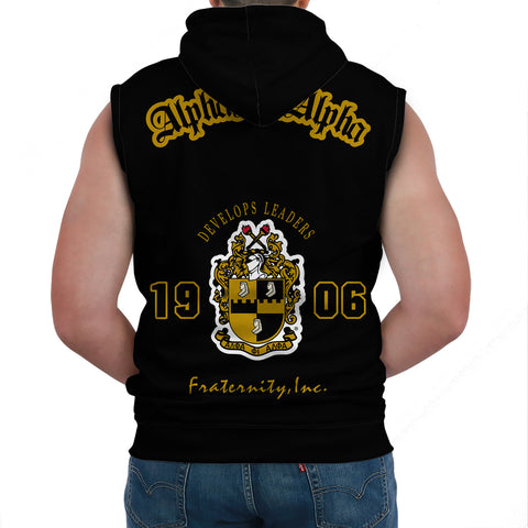 Alpha Phi Alphla Establish 1906 Sleeveless Hoodie A27
