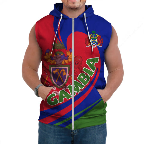 Image of Gambia Sleeveless Hoodie Lattar A15