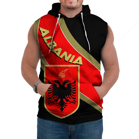 Image of Albania Sleeveless Hoodie - Special Flag