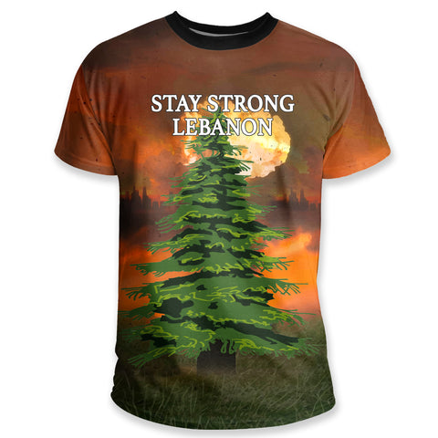 Image of Stay Strong Beirut, Lebanon T Shirt K5