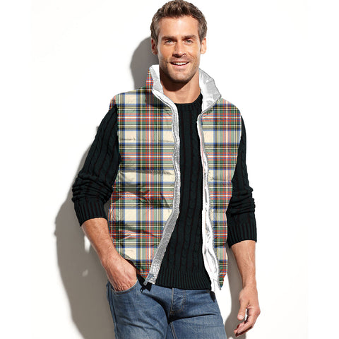 Stewart Dress Ancient Tartan Puffer Vest for Men and Women K4