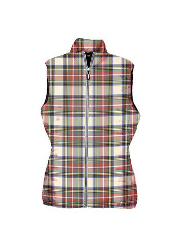 Image of Stewart Dress Ancient Tartan Puffer Vest for Men and Women K4