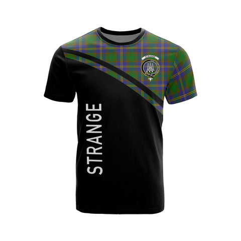 Tartan Shirt - Strange (or Strang) Clan Tartan Plaid T-Shirt Curve Version Front