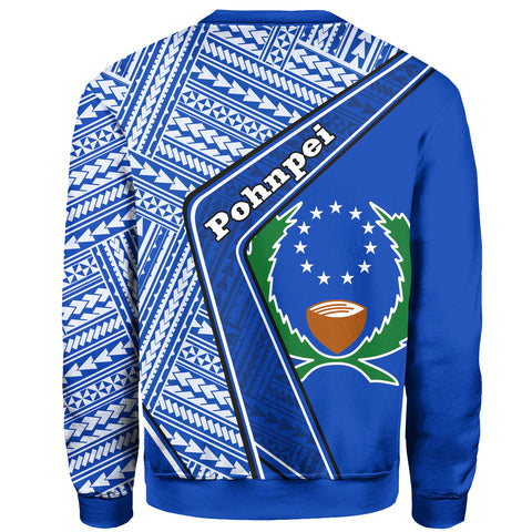 Pohnpei Sweatshirt - Polynesian Coat Of Arms | Love The World