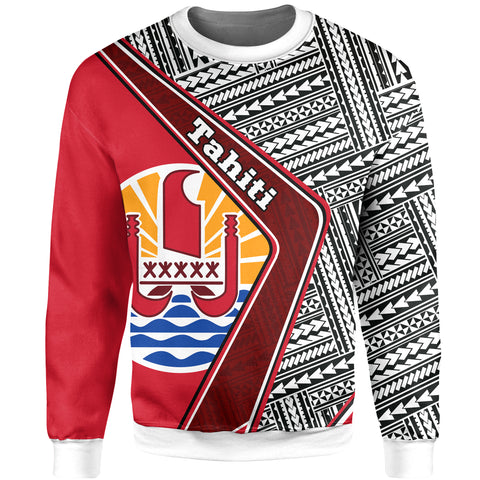 Tahiti Sweatshirt - Polynesian Coat Of Arms | Love The World