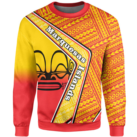 Marquesas Islands Sweatshirt - Polynesian Coat Of Arms | Love The World