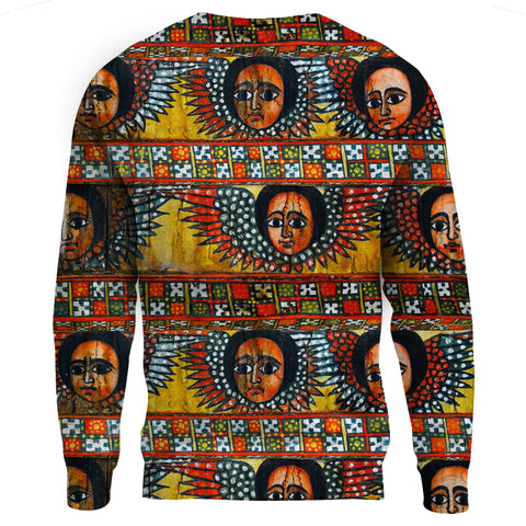 Image of Ethiopia Sweatshirt Debre Birhan Selassie Church Pattern