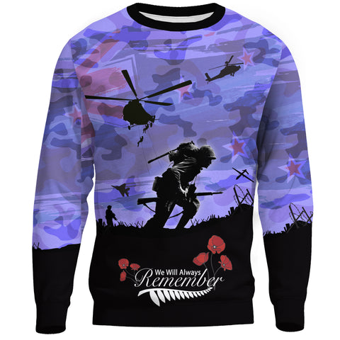 Image of Anzac Day 2021 We Will Always Remember - Sweatshirt A30