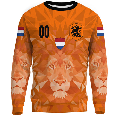 (Custom) Netherlands Lion Sweatshirt Euro Soccer A27
