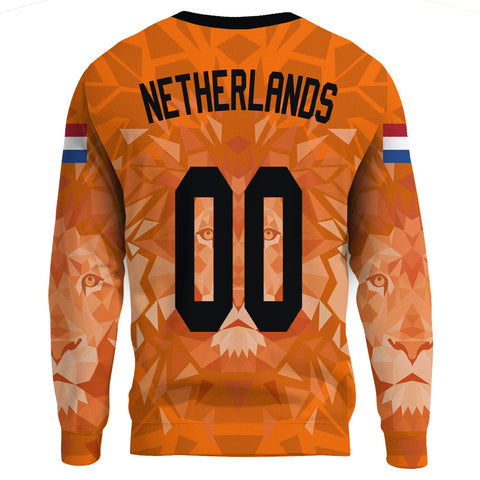 Image of (Custom) Netherlands Lion Sweatshirt Euro Soccer A27