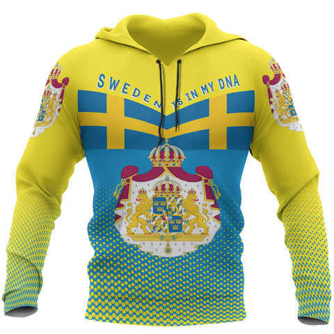Image of Sweden Hoodie - Sweden Victory Hoodie Classic Version - Blue and Yellow - Front - For Men and Women
