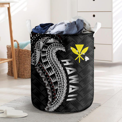 Image of Hawaii Laundry Basket, Hawaii Tattoo Polynesian Wings Style I Love The World