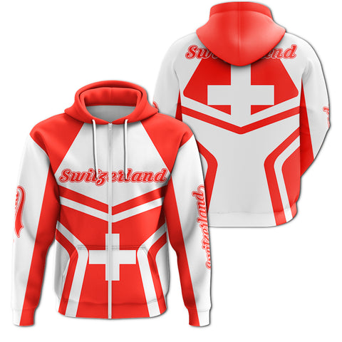 Image of Switzerland Coat Of Arms Zip-Up Hoodie My Style J7