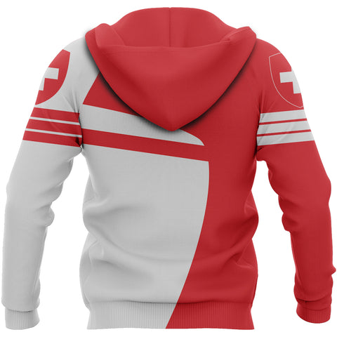 Image of Switzerland Sport Zip-up Hoodie - Premium Style | Switzerland Hoodie