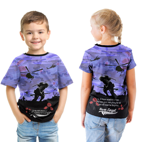 Anzac Day 2021 We Will Always Remember - T-shirt Kid A30
