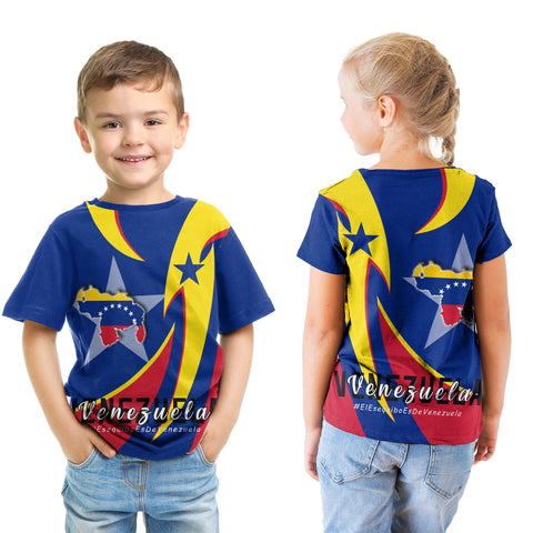 1stTheWorld T-shirt Kid - Venezuela In My Heart A30