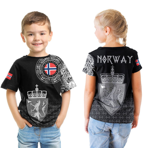 Viking Style T-Shirt Kid - Norway Coat Of Arms A31