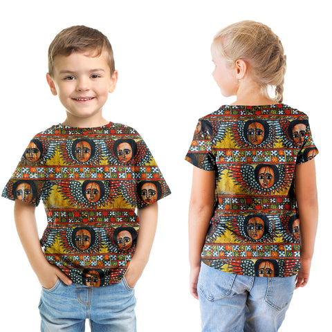 Ethiopia T-Shirt Kid Debre Birhan Selassie Church Pattern A21