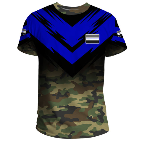 New Zealand Flag T-shirt- Based Version Of The Thin Blue Line Symbol A25