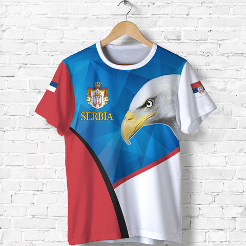 Serbia T Shirt White Eagle Version K12