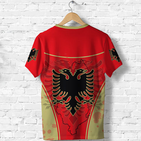 Albania T Shirt Circle Stripes Flag Version Back | 1tstheworld