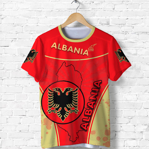 Albania T Shirt Circle Stripes Flag Version Front | 1tstheworld