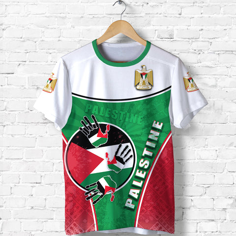 Palestine Independence T Shirt Circle Stripes Flag Proud Version Front | 1sttheworld