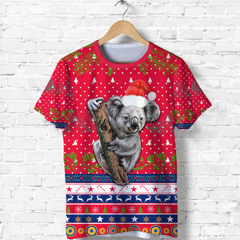 Australia Aboriginal T Shirt Koala Version Front | 1sttheworldAustralia Christmas Aboriginal T Shirt Koala Version Front | 1sttheworld