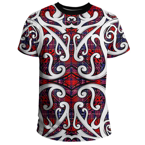 Tartan Wishart Dress T-Shirt - Maori With Tartan A777