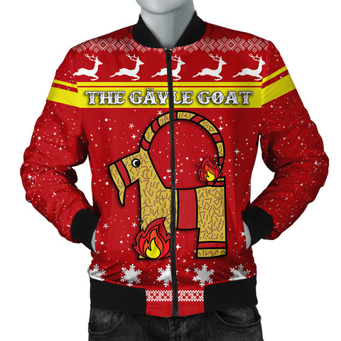Image of The Gävle goat Men's Bomber Jacket Christmas Style