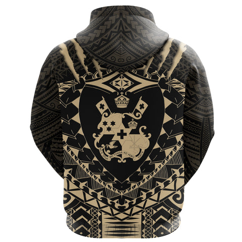 Tongan Tattoo - Tongan Coat Of Arms Zip Hoodie K5
