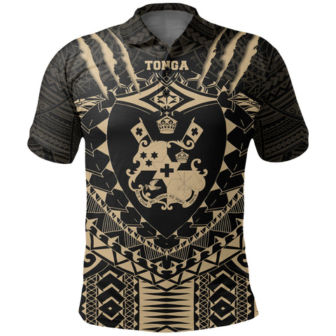 Image of Tongan Tattoo - Tongan Coat Of Arms Polo Shirt K5