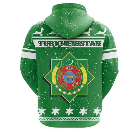 Image of Turkmenistan Christmass Zip Hoodie