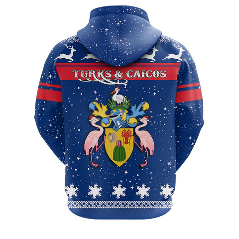 Turks and Caicos Christmass Zip Hoodie