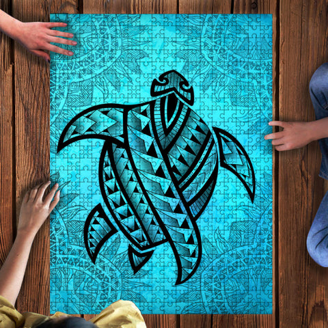 Hawaii Jigsaw Puzzle - Turtle Tattoo Turquoise | Love The World