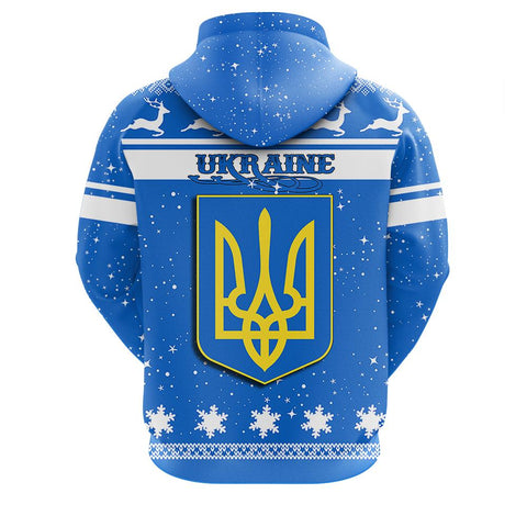 Image of Ukraine Christmass Zip Hoodie