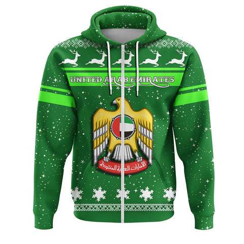 United Arab Emirates Coat Of Arms Zip Hoodie