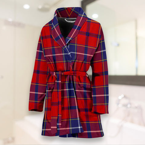 Image of Wishart Dress Bathrobe - Women Tartan Plaid Bathrobe Universal Fit - BN