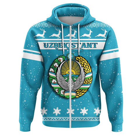 Uzbekistan Coat Of Arms Zip Hoodie