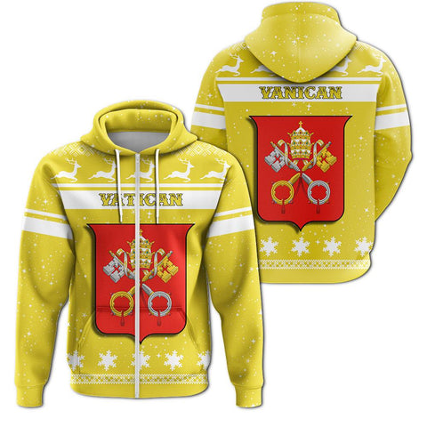 Christmas Vatican Coat Of Arms Zip Hoodie