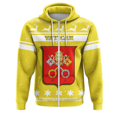 Vatican Coat Of Arms Zip Hoodie