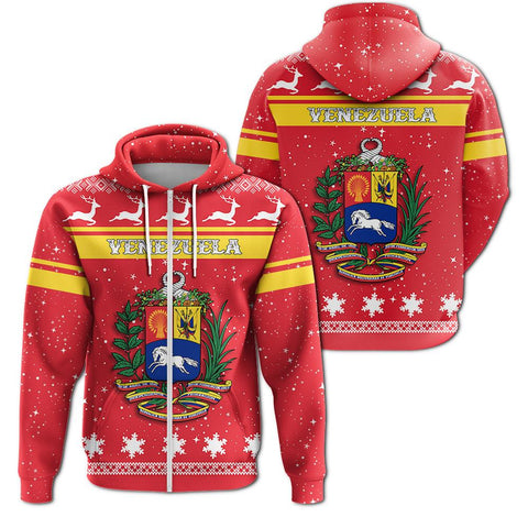 Christmas Venezuela Coat Of Arms Zip Hoodie