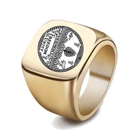 Vermont Coat Of Arms Signet Ring