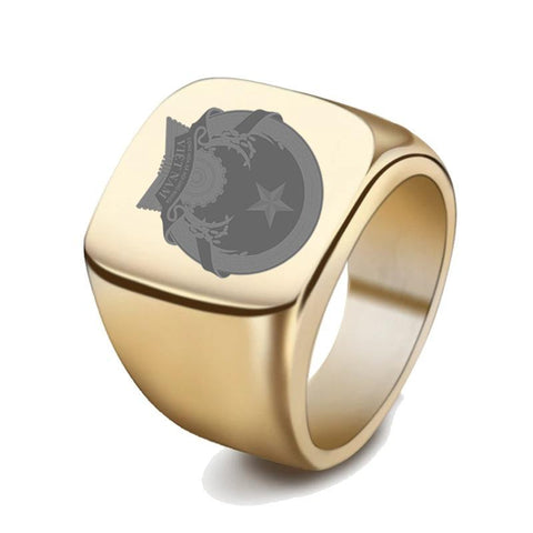 Vietnam Coat Of Arms Signet Ring