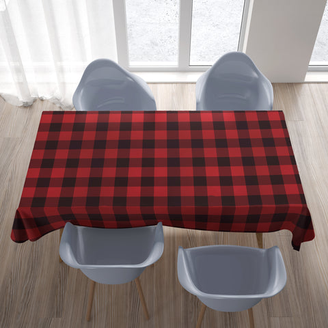 Buffalo Plaid Tablecloth Red Black A10