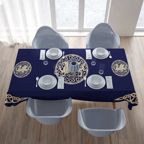 Image of Welsh Dragon Tablecloth - Bn02 | 1sttheworld.com