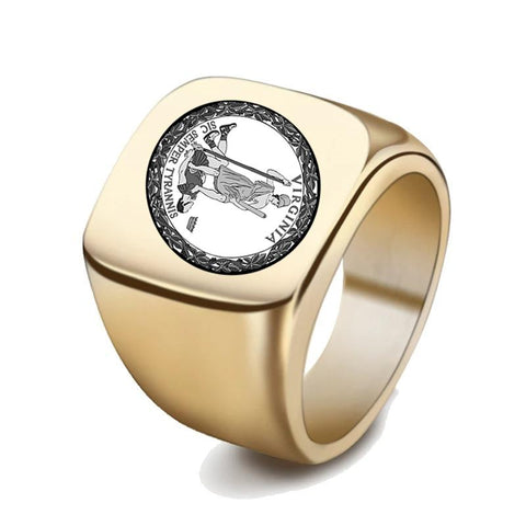 Virginia Coat Of Arms Signet Ring